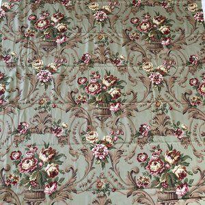 R. E. Thibaut Floral Jacobean Fabric Green 4.9 yds